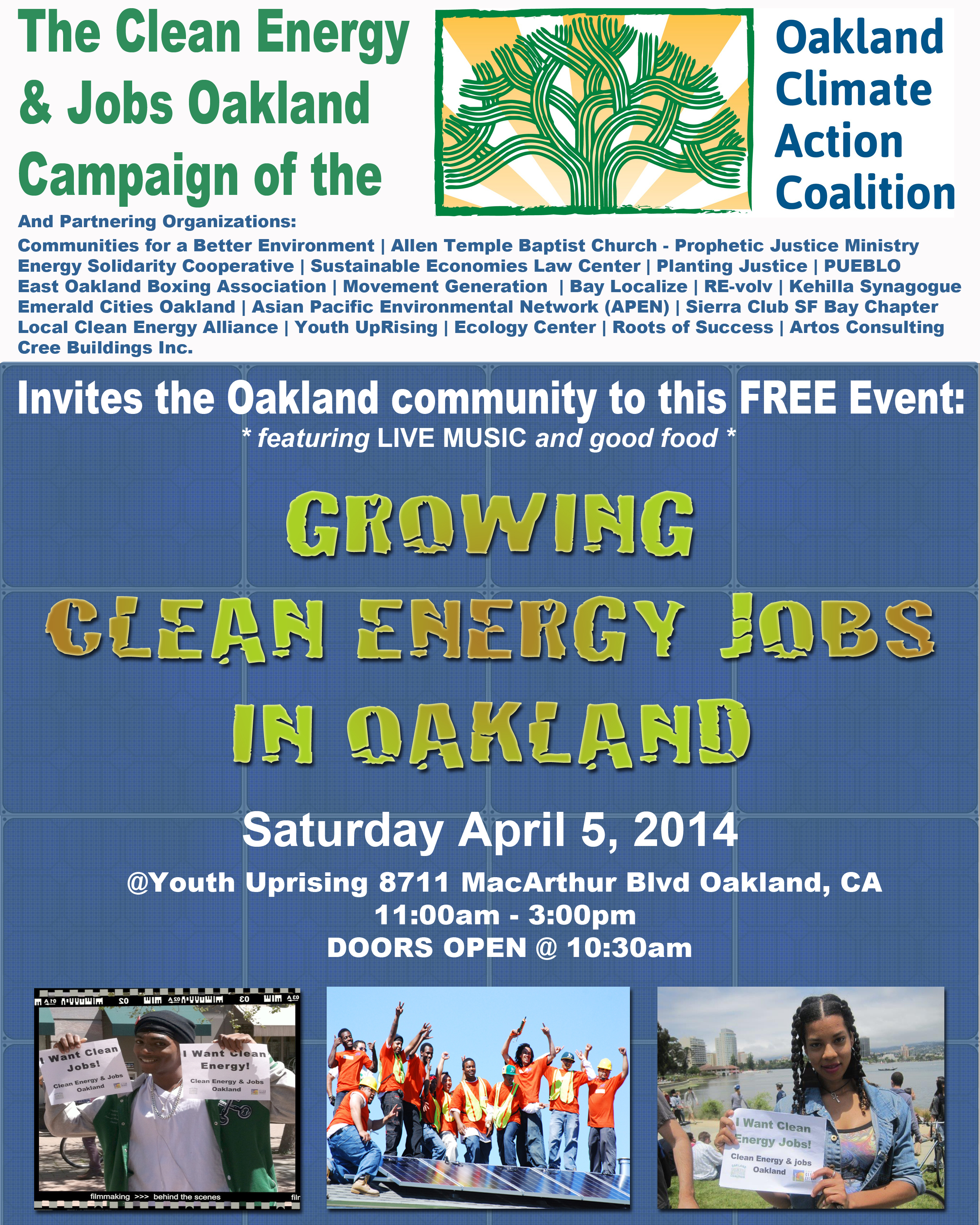 Growing Clean Energy Jobs in Oakland, April 5 | Local Clean